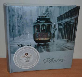 Фотоальбом на 100 фото 10х15 с местом для записей, L113-2 трамвай