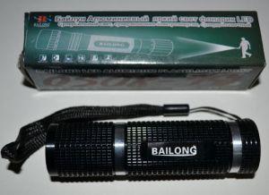 Фонарик BAILONG 8050 black (3шт R-03) метал /1/