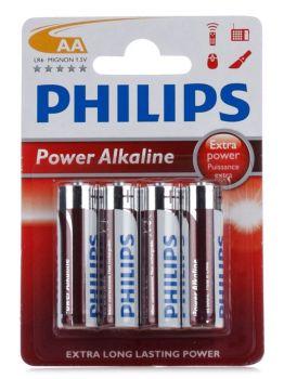 Бат Philips Power Alkaline LR-6 блистер 1х4шт /4/48/