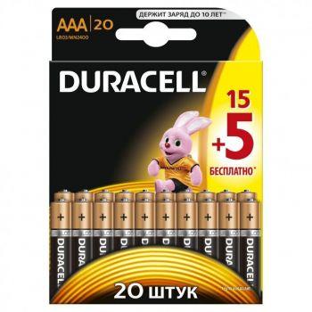 Бат Duracell LR-03 MN2400 блистер 1х20шт /20/200/