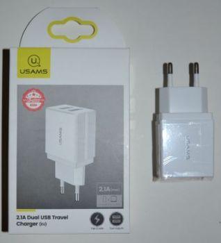 Зарядное устройство USAMS US-CC090 на 2USB 2,1A