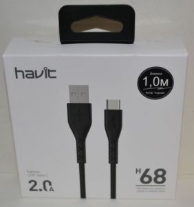 Кабель Type C Havit HV-H68 2A 1м black