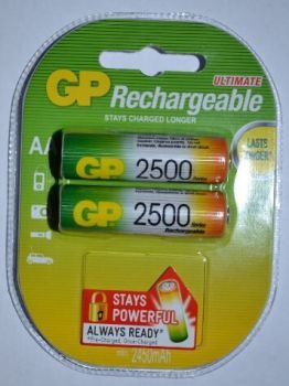 Аккумулятор GP НR-6 2500mAh Ni-MH блистер 1х2шт /2/20/