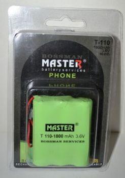 Акк Bossman T110 (3*AA) 1800mAh 3,6V Ni-Mh + контакты UP