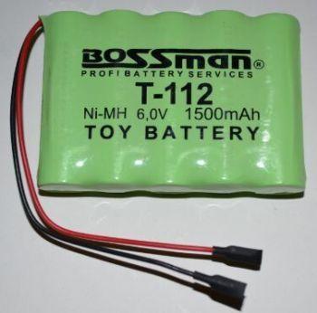 Аккумулятор Bossman T112 (5*AA) 1500mAh 6V Ni-Mh c проводом