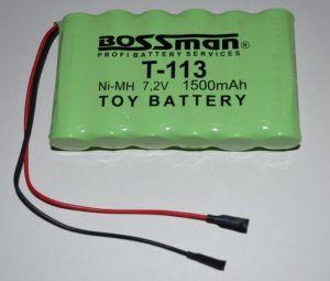 Аккумулятор Bossman T113 (6*AA) 1500mAh 7,2V Ni-Mh c проводом