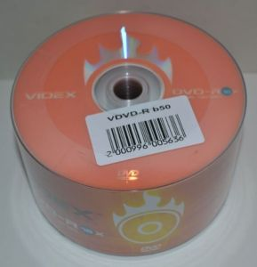 Диск DVD-R Videx 4.7Gb 16x Bulk 50 /1/50/600шт.