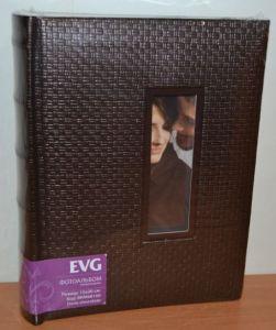 Фотоальбом на 100 фото 15х20 с местом для записей EVG Doris chocolate