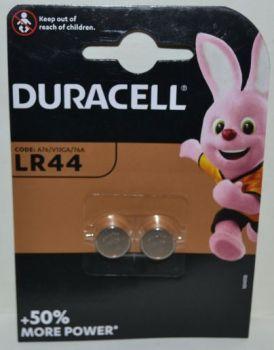 Часовая батарейка Duracell LR44 (AG13) блистер 1х2шт /2/20/