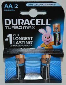 Батарейки Duracell Turbo LR-6 МХ1500 блистер 1х2шт /2/40шт.