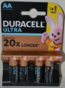 Батарейка Duracell Ultra LR-6 МХ1500 блистер 1х4шт /4/80/240шт.