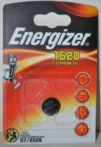 Батарейка Energizer CR-1620 Lithium 1х1шт /1/10шт.