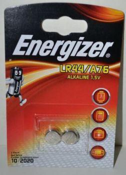 Часовые батарейки Energizer LR44 (AG13) блистер 1х2шт