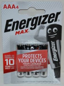 Батарейки Energizer Max LR-03 блистер 1х4шт /4/48шт.