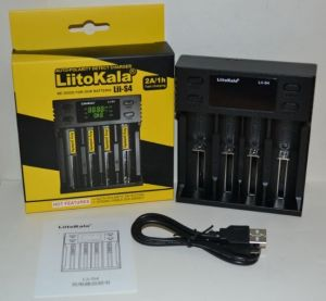 Зарядное устройство LiitoKala Lii-S4 1..4*AA/AAA/C/ NiCd/NiMh/Li-ion/IMR/ 2Ah с дисплеем