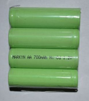 Акк Markyn 4*AA 700mAh 4,8V Ni-Сd коробка 1х1шт /1/