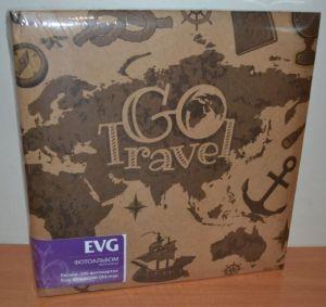 Фотоальбом на 200 фото 10х15 с местом для записей EVG Old map