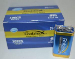 Батарейка Rablex 6F22 коробка 1x1шт /1/10шт.