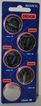 Батарейка SONY CR-2430 Lithium 1х5шт /1/5шт.