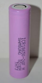 Аккумулятор Samsung ICR18650 2600mAh-26F 3,7V Li-ion