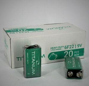 Батарейка крона TITANUM 6F22 коробка 1x1шт /1/10шт.