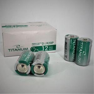 Батарейка TITANUM R-20 коробка 1х2шт /2/20шт.