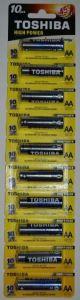 Батарейки Toshiba Alkaline LR-6 блистер 1x10шт отрывная /10/100шт.