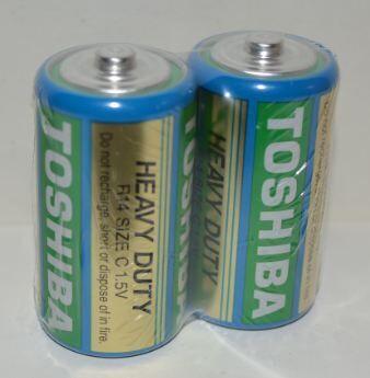 Батарейки Toshiba HEAVY DUTY R-14 коробка 1х2шт /2/24/