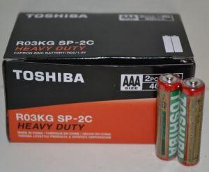 Батарейка Toshiba (красная) R-03 (ААА-мизинчиковая) коробка 1х2шт /2/40/1000/