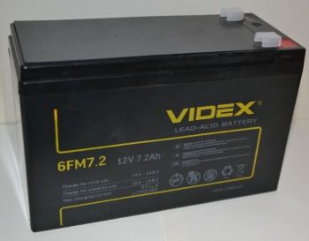 Аккумулятор Videx 12v 7,2Аh 6FM7,2 (151x65x94+6mm)