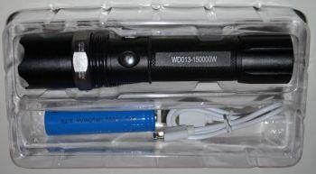 Фонарик WD-013 + аккумулятор 18650 + зарядное устройство