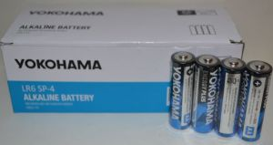Батарейки YOKOHAMA LR-6 коробка 1х4шт /4/40шт.