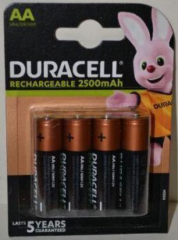 Аккумуляторы Duracell HR-6 2500mAh Ni-MH блистер 1х4шт /4/40/