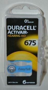 Батарейка Duracell ZA675 (PR44) для слуховых аппаратов /6/60шт.