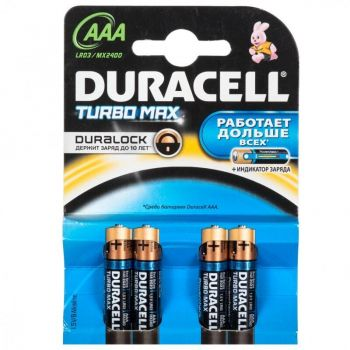 Бат Duracell Turbo LR-03 МХ2400 блистер 1х4шт /4/40/120/