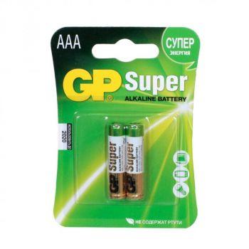 Бат GP Super Alkaline LR-03 блистер 1х2шт /2/20/160/
