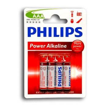 Бат Philips PowerLife LR-03 блистер 1х4шт /4/48/
