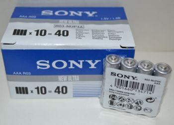 Бат SONY R-03 коробка 1х4шт /4/40/400/