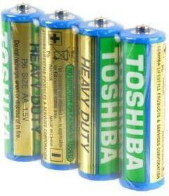 Батарейки Toshiba HEAVY DUTY R-6 коробка 1х4шт /4/40/1000/