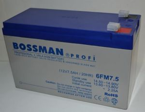 Аккумулятор Bossman Profi 12v 7,5Аh 6FM7,5 (151x65x94+6mm)