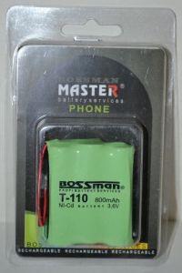 Аккумулятор Bossman T110 (3*AA) 800mAh 3,6V Ni-Сd + контакты UP