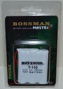 Аккумулятор Bossman T110 (3*AA) 1000mAh 3,6V Ni-Сd c проводом