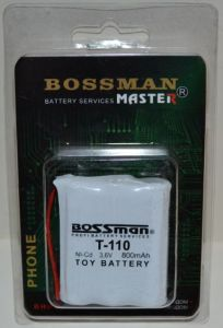 Аккумулятор Bossman T110 (3*AA) 800mAh 3,6V Ni-Сd c проводом