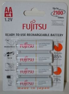 Аккумуляторы FUJITSU НR-6 1900mAh Ni-MH блистер 1х4шт