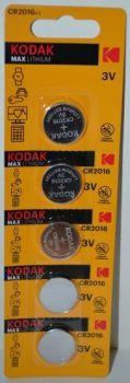 Батарейка KODAK MAX CR-2016 Lithium 1x1шт /1/5/60шт.