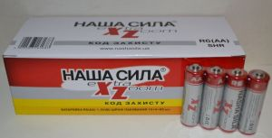 Батарейка Наша Сила Extra Zoom R-6 коробка 1х4шт /4/60/1200шт.