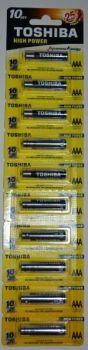 Батарейки Toshiba Alkaline LR-03 блистер 1x10шт отрывная /10/100шт.