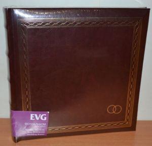 Свадебный фотоальбом на 200 фото 10х15 с местом для записей EVG Wedding brown