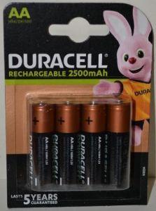 Акк Duracell HR-6 2500mAh Ni-MH блистер 1х4шт /4/40/