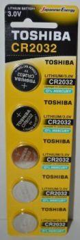 Бат Toshiba CR-2032 Lithium 1х5шт /1/5/50/